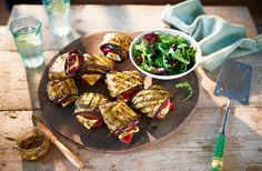 Try these mouthwatering aubergine and red pepper parcels for a vegetarian barbecue recipe with a difference. Find more barbecue recipes at Tesco Real Food.