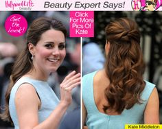 Kate Middleton's Prettiest Hair Ever — Expert Tips To Get The Look….simple, y… - All For Bridal Hair Side Hairstyles, Trendy Hairstyles, Braided Hairstyles, Celebrity Hairstyles, Wedding Guest Updo, Wedding Guest Hairstyles, Princesa Kate, Bridesmaid Hair, Prom Hair