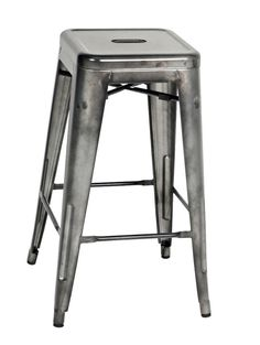 Gray Metal Stool