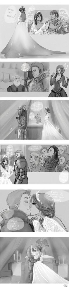 Alistair'Wedding by AlexielApril on deviantART (they're both like freaking teenagers. this is exactly how i imagine they actually talk to each other.)