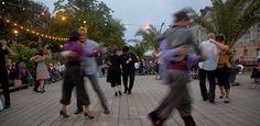 ღღ Tango Nacht | Dancing tango at Strandbar Mitte, Monbijou Park   (by visitBerlin, via Flickr)