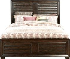 Cindy Crawford Home Michigan Avenue Brown 3 Pc Queen Panel Bed . $499.99. 89L x 65.5W x 59H. Find affordable Queen Beds for your home that will complement the rest of your furniture.