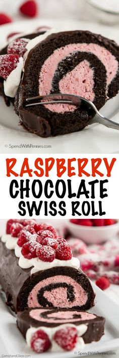 Show your loved ones how much you care about them this Valentine's Day with this decadent yet simple to make Raspberry Chocolate Swiss Roll.: