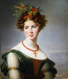 Countess de Bossancourt - 1830 oil on panel, 73 x 59.5 in Josèphine, Comtesse de Baussencourt née de Sassenay. She was born in 1811. Signed and dated L.E VIGEE LEBRUN 1830 Musée des Beaux-Arts, Troyes