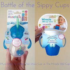 Battle of the Sippy Cups: Munchkin's Weighted Flexi-Straw Cup vs. Miracle 360 Cup