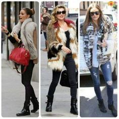 7-moduri-de-a-purta-ghetele-in-aceasta-toamna_g Fur Coat, Jackets, Fashion, Down Jackets, Moda, Fashion Styles, Fashion Illustrations, Fur Coats, Fur Collar Coat