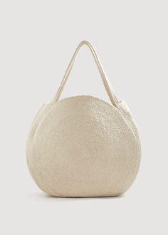 Round shopper bag -  Woman | MANGO Slovakia