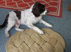 DIY Naturical Rope Rug how-to