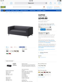 IKEA klippan couch