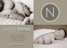 adorable baby announcements