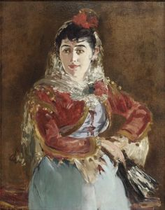 Edouard Manet, 'Portrait of Emilie Ambre as Carmen' on ArtStack #edouard-manet #art