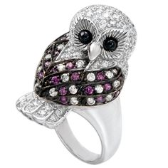 Purple Owl Bling Ring ONLY 1 AVAILABLE