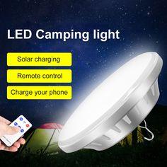 Usb Power Bank Multifunction Steel Hook Hanging Camping Lantern For Garden Outdoor Camping Lamp, Led, Control, Remote, Pilot