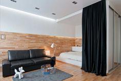 Фотография: в стиле , Квартира, Студия, Проект недели, Бежевый, Серый, Новосибирск, спальня в нише, Art-Ugol – фото на InMyRoom.ru