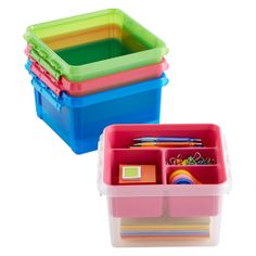 The possibilities for organization are endless with our new Smart Store System! Choose from a range of sizes (and colors) of totes, inserts and trays to keep your crafts, hobbies or supplies organized. Its portable, too!