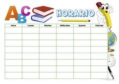 Horario escolar para estudiantes modelo 2, en varios formatos, listo para…