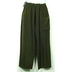 """Green Silk Kung Fu Pants, Size XL by Jade. $29.00. Side-way Big Pocket. Elastic Waist w/Stopper to Fit. Soft hand feeling Silk/Rayou. This is a soft hand feeling Silk/Rayon Kung Fu pants with draw-string elastic waist w/Stopper to fit in green color. It's perfect for Kung Fu, Tai Chi and Martial Art. The length of this pants is 43.5"""" and waist is 50""""."""