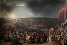 Paris, 14 Juillet 1790: Fête de la Fédération au Champ-de-Mars.
