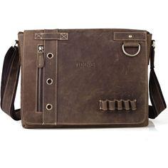 8fa55ea6fd807 Men's Real Cow Leather Messenger Shoulder Bag Sling Satchel School Book Bag  #TIDING #MessengerShoulderBags