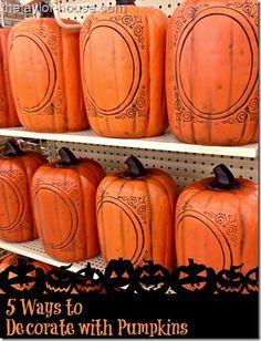 5 Ways to Decorate Pumpkins