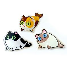 cat seal acrylic pins by papricots on Etsy Logo Animal, Jacket Pins, Pin And Patches, Diy Patches, Cool Pins, Metal Pins, Pin Badges, Lapel Pins, Pin Collection