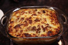 Fresh from scratch lasagna (noodles and sauce) right from oven!!  www.whatscookingwithdoc.com  jefenster