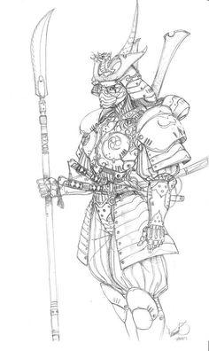 Samurai mech suit by tdm-studios on DeviantArt Samurai Drawing, Samurai Artwork, Warrior Drawing, Samurai Tattoo Sleeve, Samurai Warrior Tattoo, Sleeve Tattoos, Japanese Tattoo Art, Japanese Art, Ninja Kunst