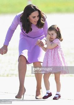 ♛ Duchess Mary ♛ (@princesspleats) on Twitter: Tour of Germany, Day 3, July 21, 2017-Duchess of Cambridge comforts Princess Charlotte after a tumble