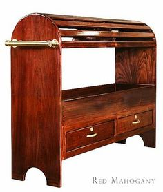 The Trunkman red mahogany saddle rack. Could be a great piece for the home!