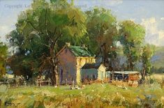 Old Homestead - Oil by Kathryn Stats