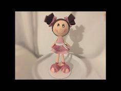 1/2 -Tutorial fofucha 3D, Puppe aus Moosgummi - YouTube