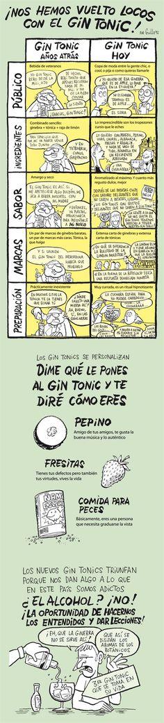 ¿nos hemos vuelto locos con el Gin Tonic? esta viñeta de El Jueves lo ilustra muy bien.