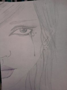 drawings of girl crying - Google Search