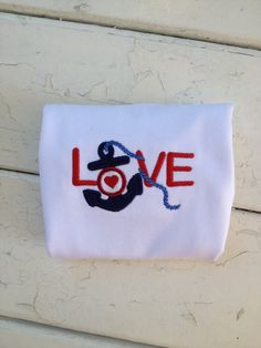 Love with an anchor and a heart. by UpIslandlife on Etsy