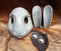 Tutorial Rabbit Mask 1 by missmonstermel, via Flickr