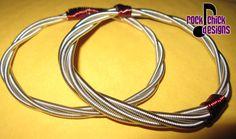 Bass string bracelets by Rock Chick Designs.