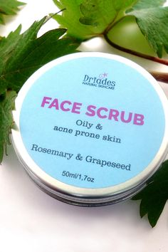 Exfoliating face scrub for acne & oily skin. Aloe vera gel face mask & scrub in 1 product. Plastic microbeads free, zero waste vegan green beauty skincare products handmade to order by Pin & Buy it now with free tracked shipping. Exfoliating Face Scrub, Exfoliate Face, Face Cleanser, Natural Face, Natural Skin Care, Gel Face Mask, Aloe Vera Face Mask, Coconut Oil For Face, Natural Acne Remedies