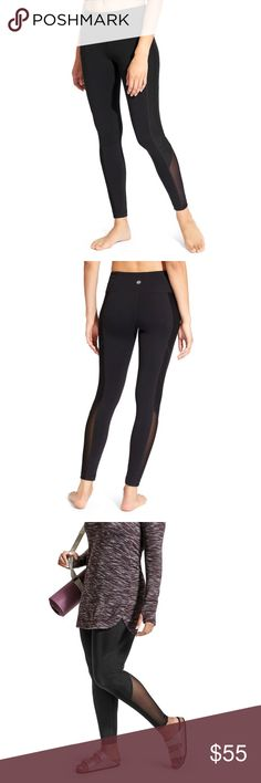Athleta High Rise Mesh Tux Chaturanga Tight 2X Lux, high quality fun yoga pants! Our go-to tight for all things yoga with an Ombre Mesh tuxedo stripe comes in a high-rise fit for a triple dose of performance: keeps everything tucked in, offers a secure, stay-put fit, and creates the longest, leggiest look. Light used, in good condition. No rips, snags or stains. No trades Athleta Pants Leggings