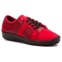 Leta Lace Up Cherry
