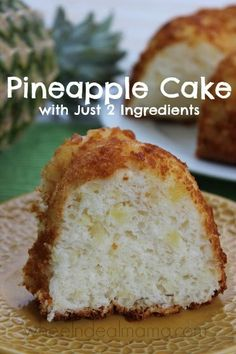 Pineapple Cake with just TWO Ingredients - Looking for a tasty and VERY easy dessert?! Pineapple Cake with just TWO Ingredients!! Very tasty and yet probable one of the easiest cakes to make.