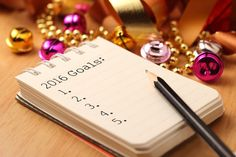 New Year's goals with colorful decorations. New Year's goals are resolutions or promises that people make for the New Year to make their upcoming year better in some way. Oxygen Magazine, Life Goals List, 2016 Goals, New Years 2016, Year 2016, Positive Mantras, Financial Goals, Setting Goals, In Writing