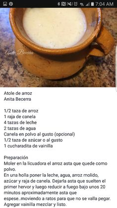 Real Mexican Food, Mexican Drinks, Mexican Dishes, Mexican Food Recipes, Spanish Recipes, Dessert Drinks, Yummy Drinks, Dessert Recipes, Yummy Food