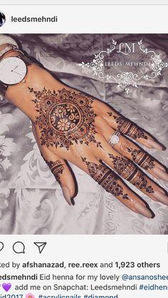 39 Ideas for indian bridal henna mehndi mehendi Henna Hand Designs, Henna Tattoo Designs, Pretty Henna Designs, Bridal Mehndi Designs, Henna Tattoo Meanings, Henna Tattoo Hand, Henna Ink, Henna Body Art, Mandala Tattoo
