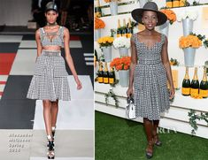 Lupita Nyong'o In Alexander McQueen - Veuve Clicquot Polo Classic 2014 - Red Carpet Fashion Awards Races Fashion, Pop Fashion, Fashion Trends, Celebrity Red Carpet, Celebrity Style, White Gowns, White Dress, Race Wear, Polo Classic