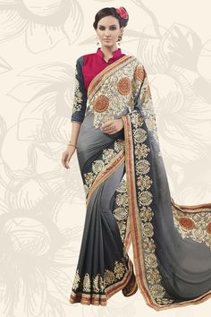 Buy This Grey Metal Chiffon Heavy Zari Embroidery Work Designer Party Wear Saree.  Buy Now:- http://www.lalgulal.com/sarees/grey-metal-chiffon-heavy-zari-embroidery-work-designer-party-wear-saree-718 Cash On Delivery & Free Shipping only in India.For Other Query Just Whatsapp Us on +91-9512150402 Or Mail Us at info@lalgulal.com.