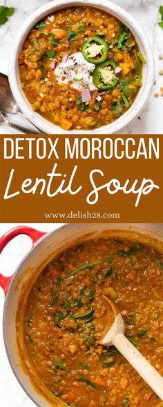 Healthy Lentil Soup, Lentil Detox Soup, Best Lentil Soup Recipe, Red Lentil Soup, Lentil Recipes, Healthy Soup Recipes, Healthy Foods, Keto Recipes, Healthy Eating