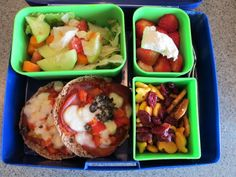 Bento Box , my new favorite way to pack lunch. No worries over portion control