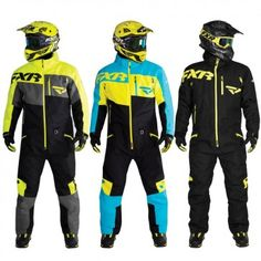 FXR Racing Squadron Mens Skiing Snowboard Sled Snowmobile Monosuits