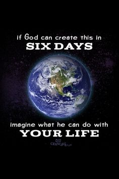 Imagine he possibilities. Submit to His will, no matter what!