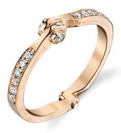 Borgioni's 18-karat rose gold and diamond Handcuff band ($2,400)